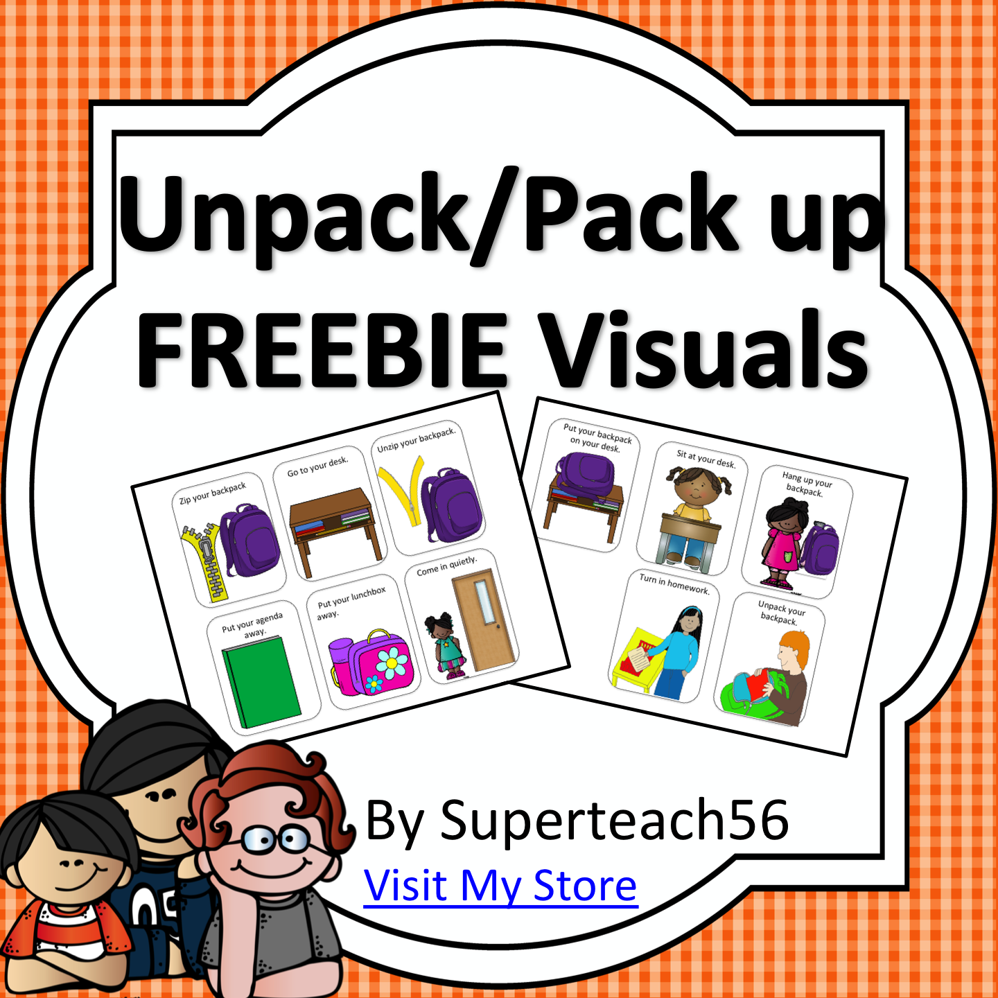 Unpack Pack-up Visual Cards