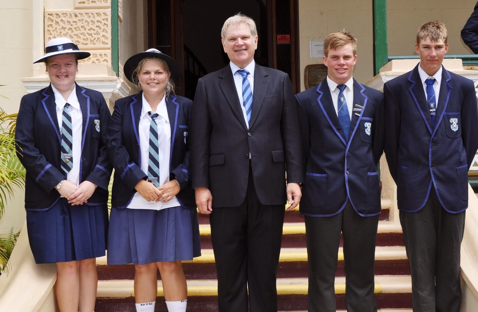 2014 Boarding Captains with Mr Fairbairn