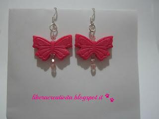 Pink Butterfly Farfalla+pink