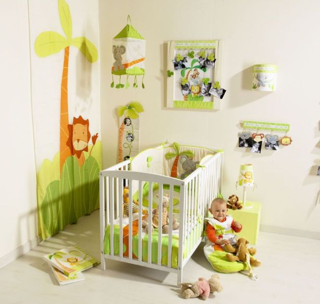 th me jungle chambre b b. Black Bedroom Furniture Sets. Home Design Ideas