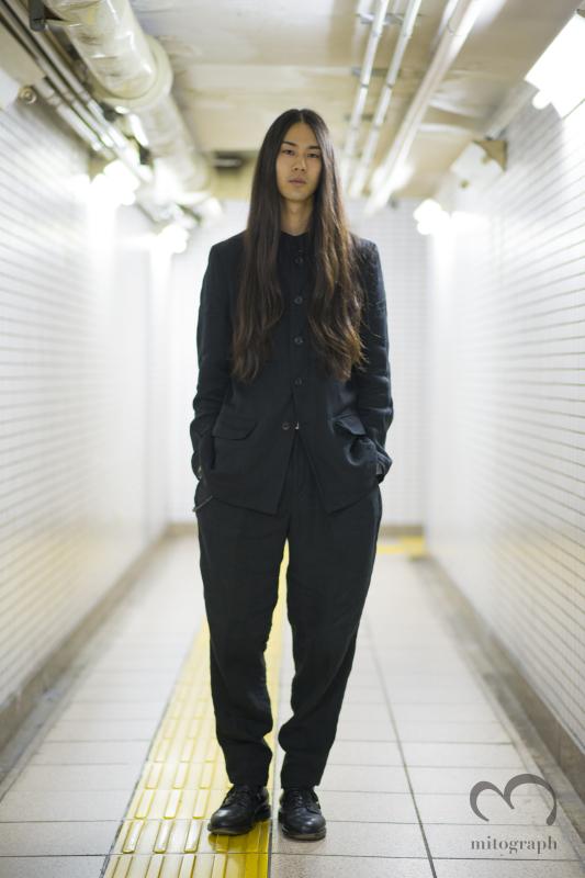 Ko Nakano wears Yohji Yamamoto at Hiroo Tokyo Japan