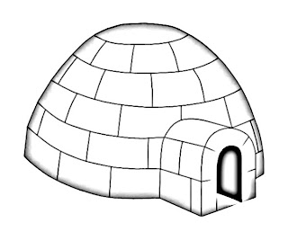 Igloo Eskimo House Sketch