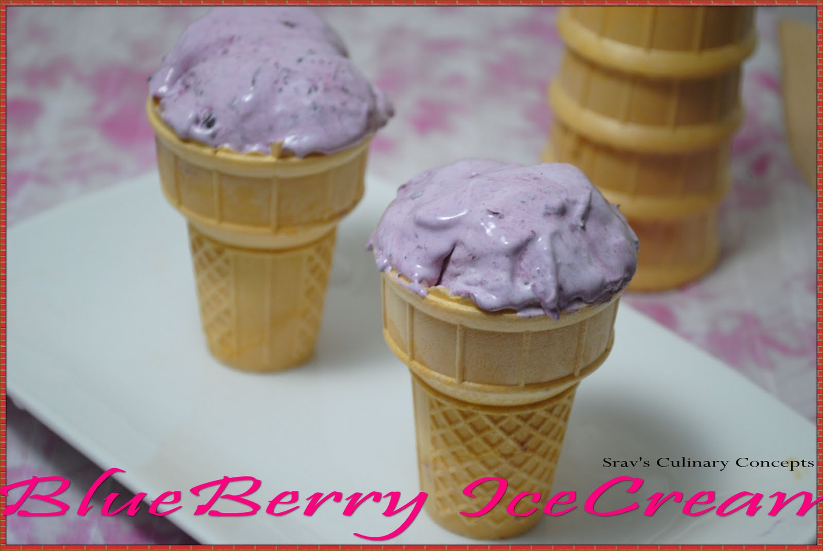 Blueberry icecream