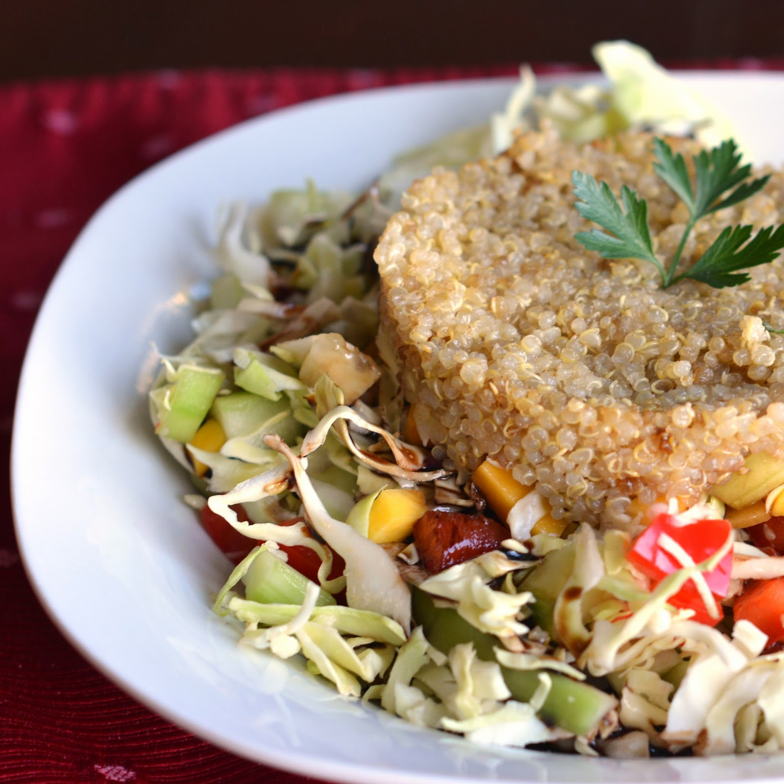 Mom, What's For Dinner?: Quinoa Mango Cabbage Salad