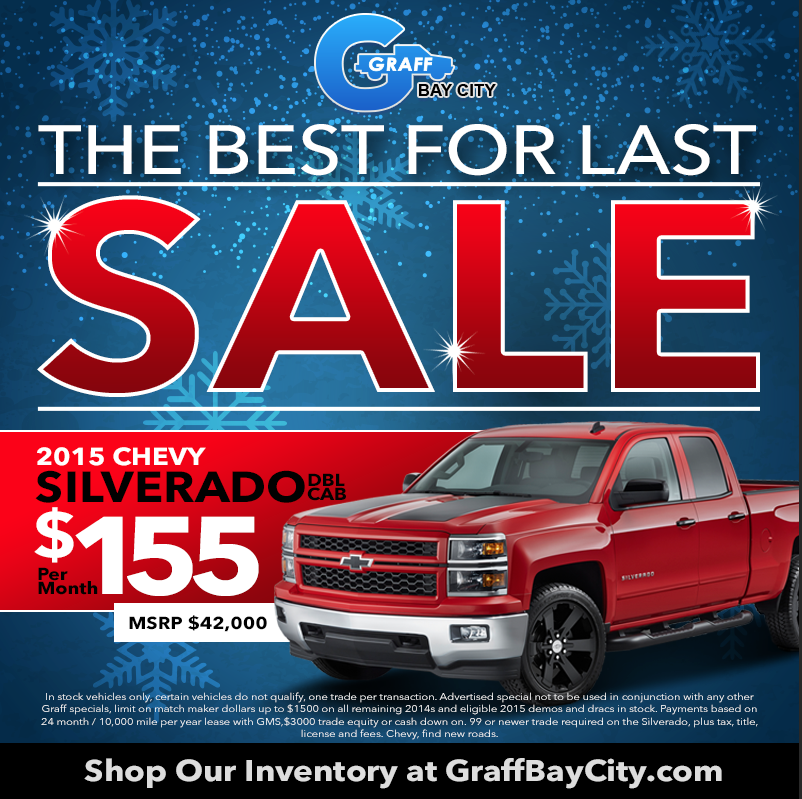 Chevrolet Year End Sale at Graff Bay City
