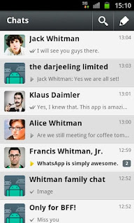 Top free Messenger apps in Android market.