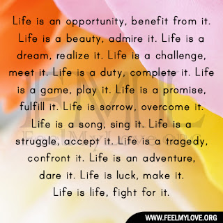 Life is an opportunity, benefit from it