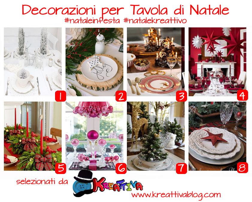 16 idee per decorare la tavola di natale kreattivablog for Decorazioni tavola natale