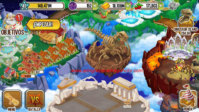 imagen de la isla dinosaurio de dragon city para iphone y ipad
