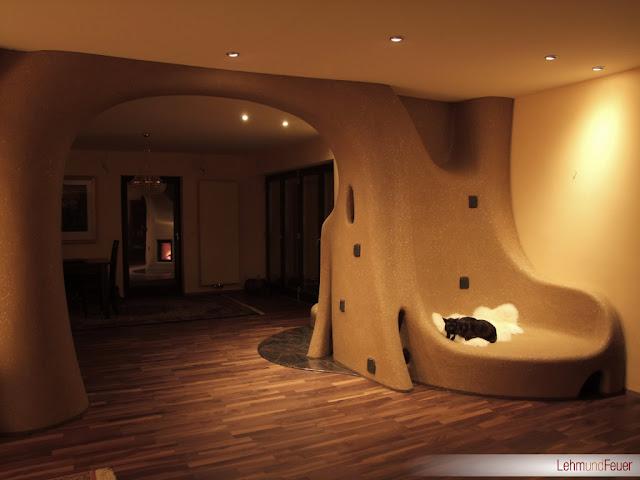 Дизайн в интерьере с печью