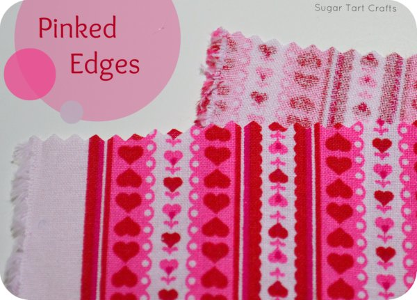 Fabric with pinked edges
