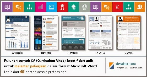 Desain CV Kreatif: Contoh CV Kreatif + Download Link