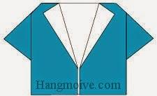 Bước 6: Hoàn thành cách xếp cái, chiếc áo sơ mi bằng giấy theo phong cách origami.