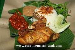 resep praktis (mudah) memasak masakan (makanan) khas lamongan ayam goreng spesial enak, gurih, nikmat, lezat