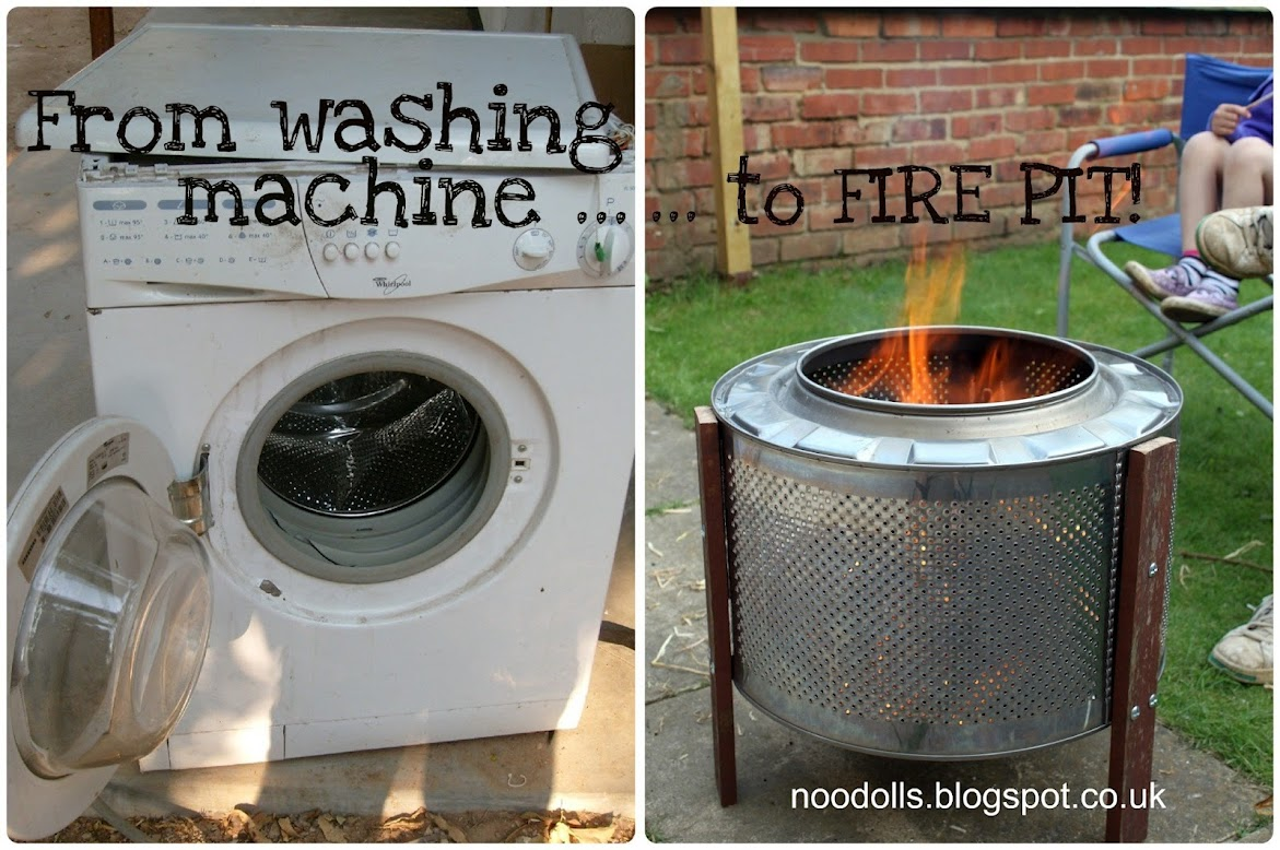 Washing Machine Fire Pit Made From