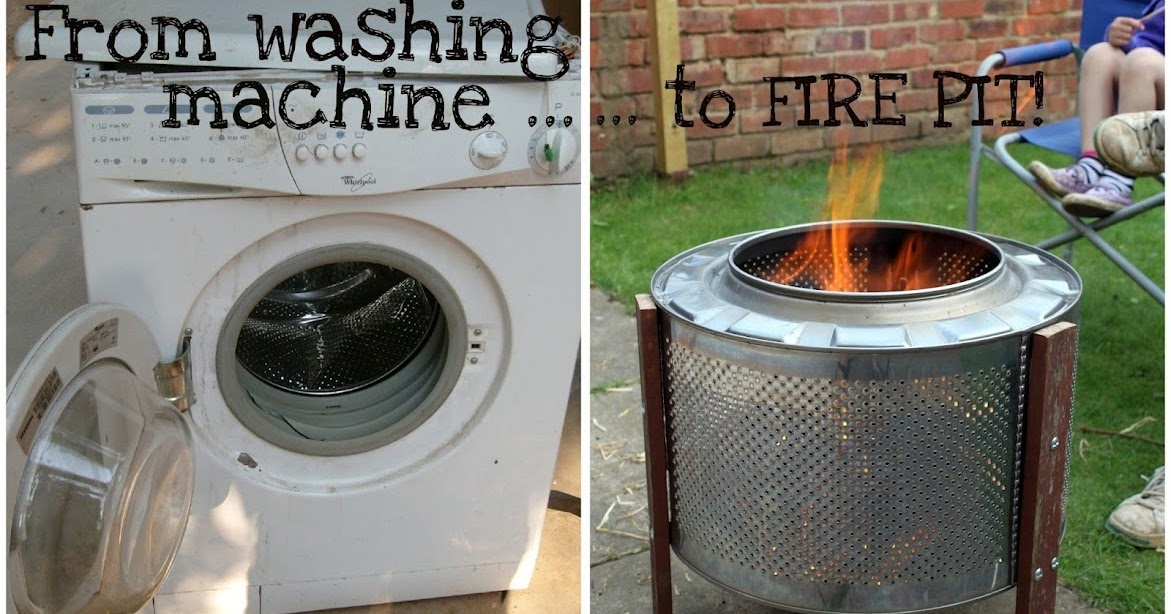 - Home Made Fire Pit: Up-cycled Washing Machine! A Noodoll Life