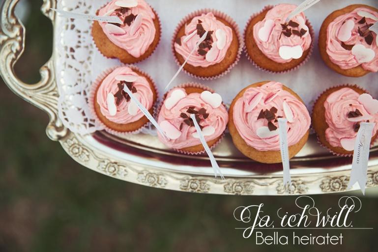 rosa Cupcakes Hochzeit