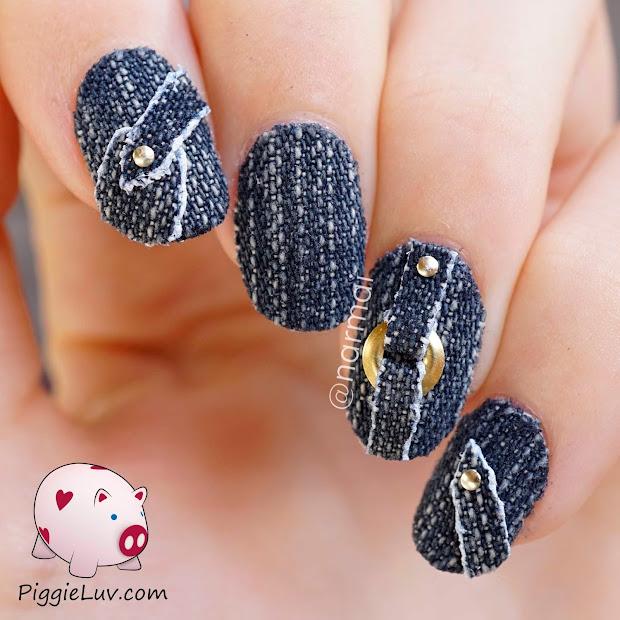 piggieluv 3d jeans nail art