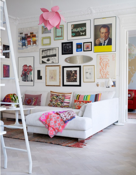 My scandinavian home a fun quirky and bright stockholm home for Quirky home