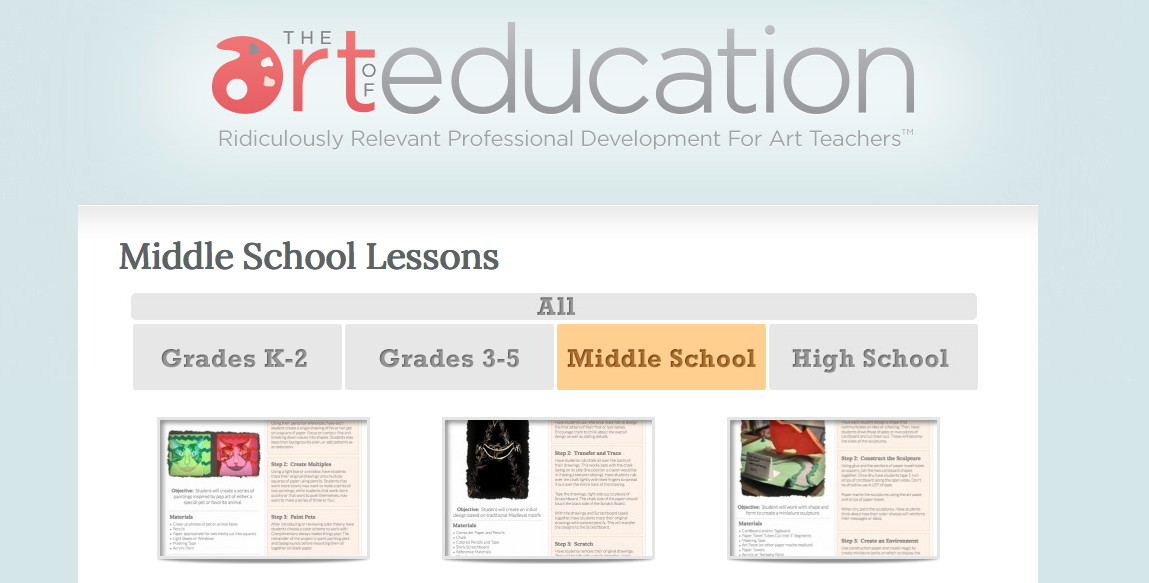 The Art of Education Lesson Plans