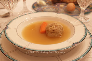 Second Course of Dinner: Matzoh Ball Soup