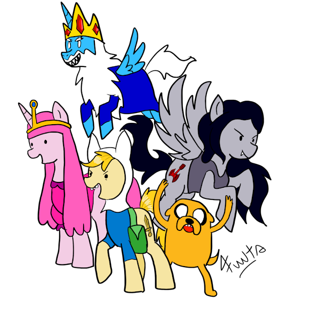MLP FiM: Adventure Time por Fuutachimaru