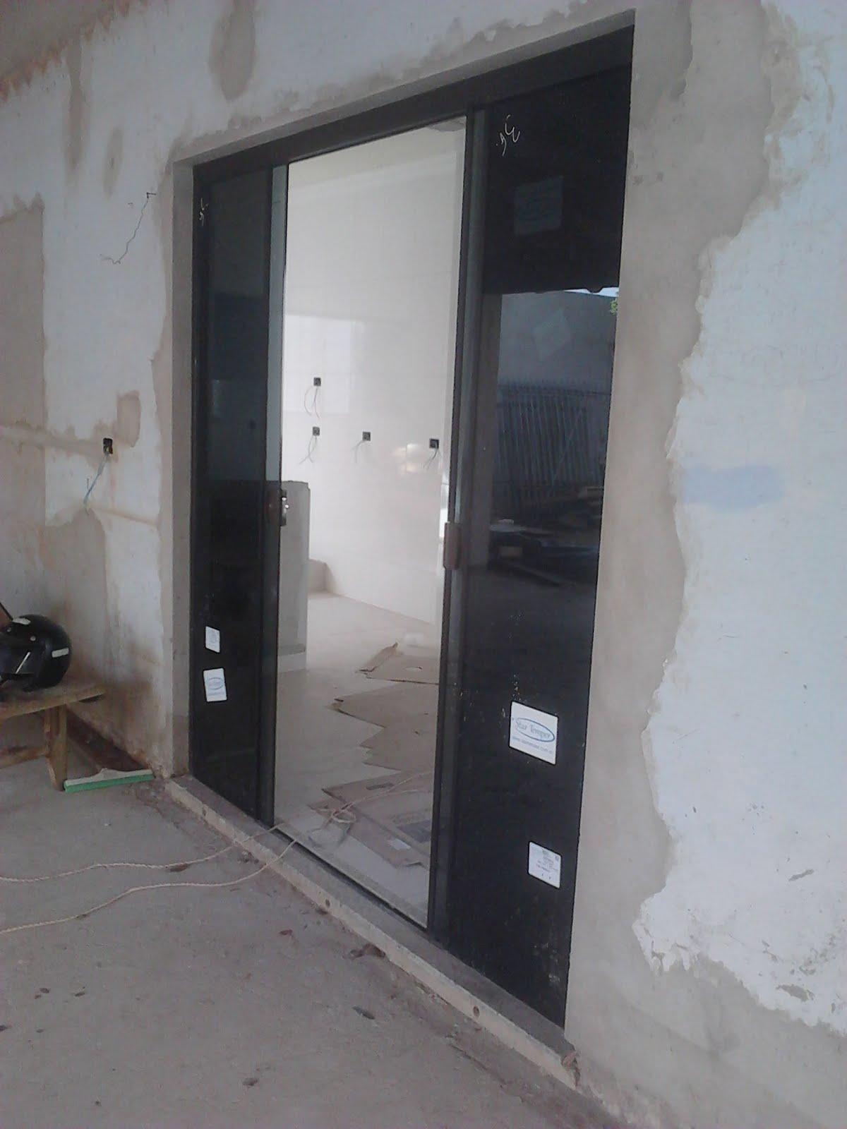 #5A6771 Porta em vidro fumê sistema 04 folhas 496 Janelas E Portas De Aluminio Em Juiz De Fora