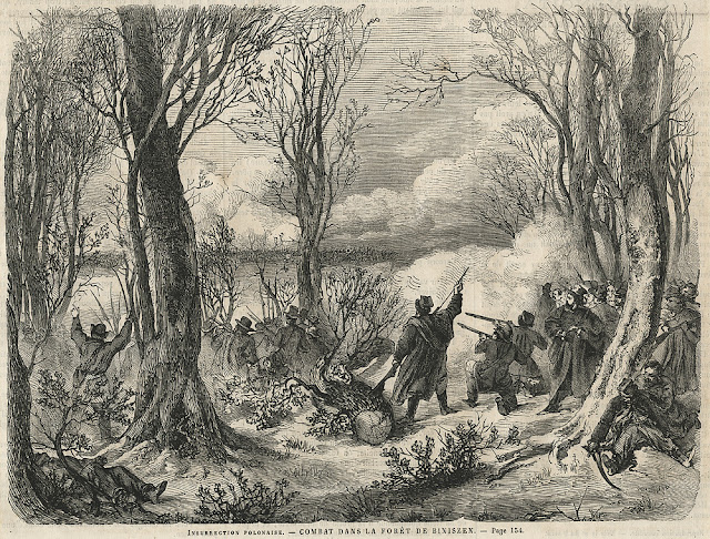 Drzeworyt sztorcowy z francuskiego tygodnika Le Monde Illustre, z 1863 r. w zbiorach KW