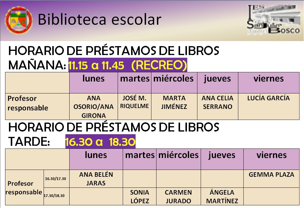Biblioteca IES San Juan Bosco