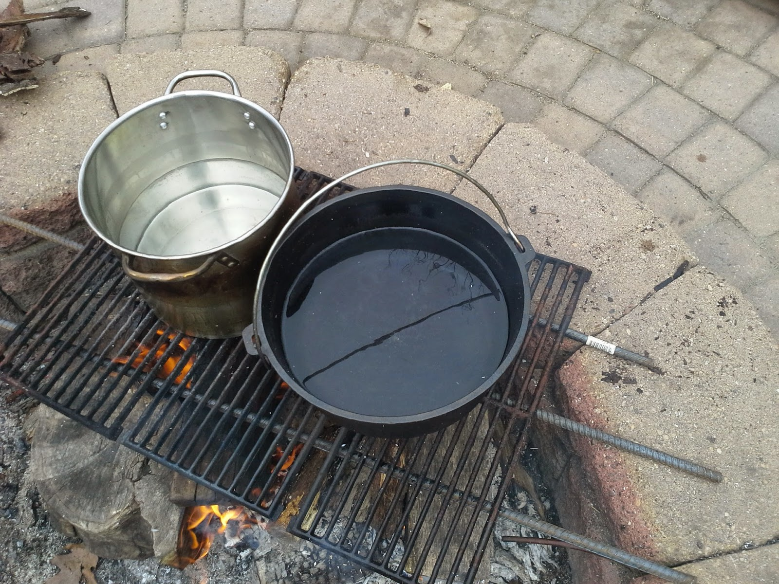 Use rebar and grill grates to cook over an open fire maple sap syrup