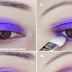 Purple Glitter Eye Makeup Tutorial