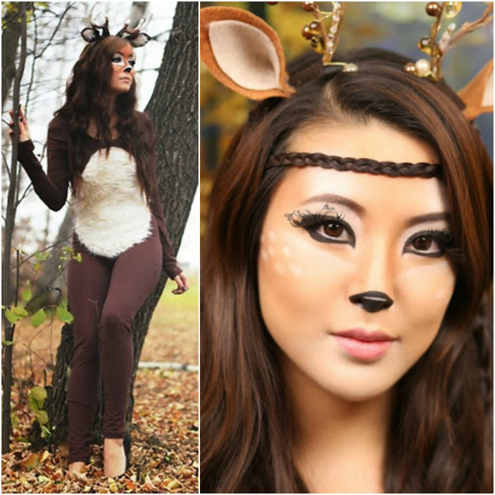 deer makeup halloween fancy dress costume ideas outfit 2014