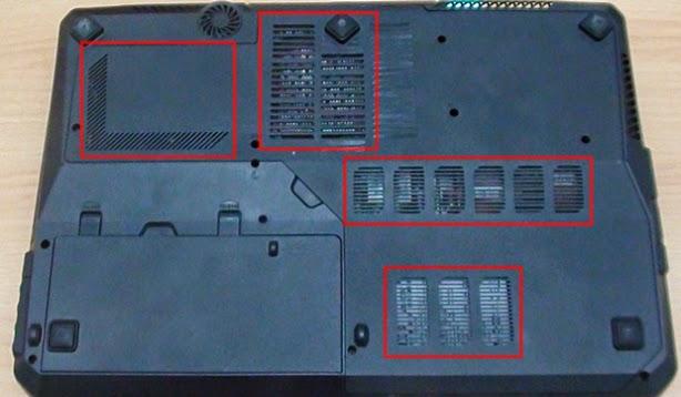 lubang udara pada laptop