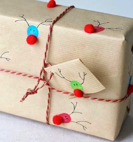 Идея за оригинална опаковка на големи коледни подаръци за деца