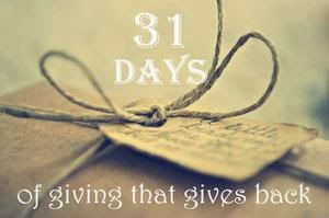 31 Days of Giving That Gives Back