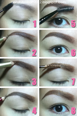 candyloveart my eyebrow makeup tutorial