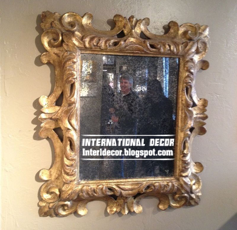 Home Exterior Designs: Classic mirror frames golden for wall decorating