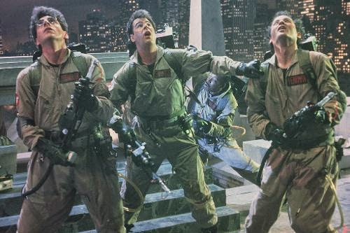 Harold Ramis, Dan Aykroyd, and Bill Murray in 1984's 'Ghostbusters'