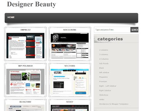 Designer Beauty Blogger Theme