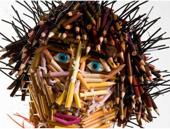 Federico Uribe esculturas lápis Garoto - detalhe