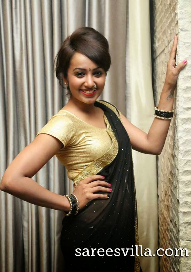 Tejaswi Madivada with a traditional nose pin