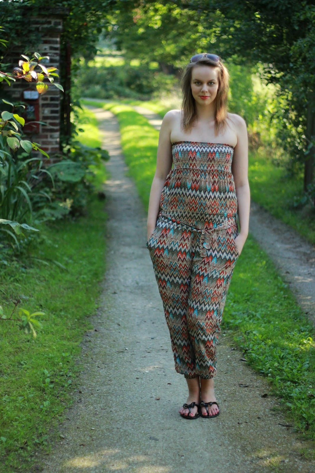 outfit of the day printed jumpsuit, OOTD blog jumpsuit