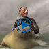 Baby Seal Trying To Surf - Video