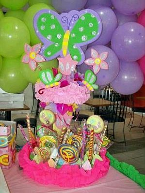 Decoracion de fiestas infantiles con flores - Decoracion mesa centro ...