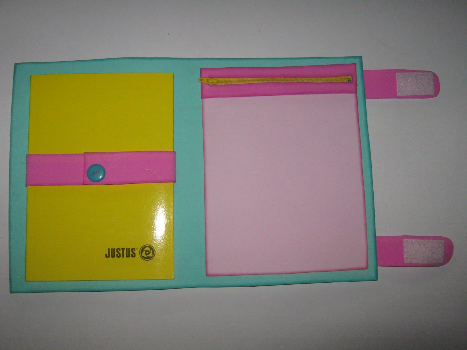 Como hacer un portafolio en foami paso a paso - Imagui