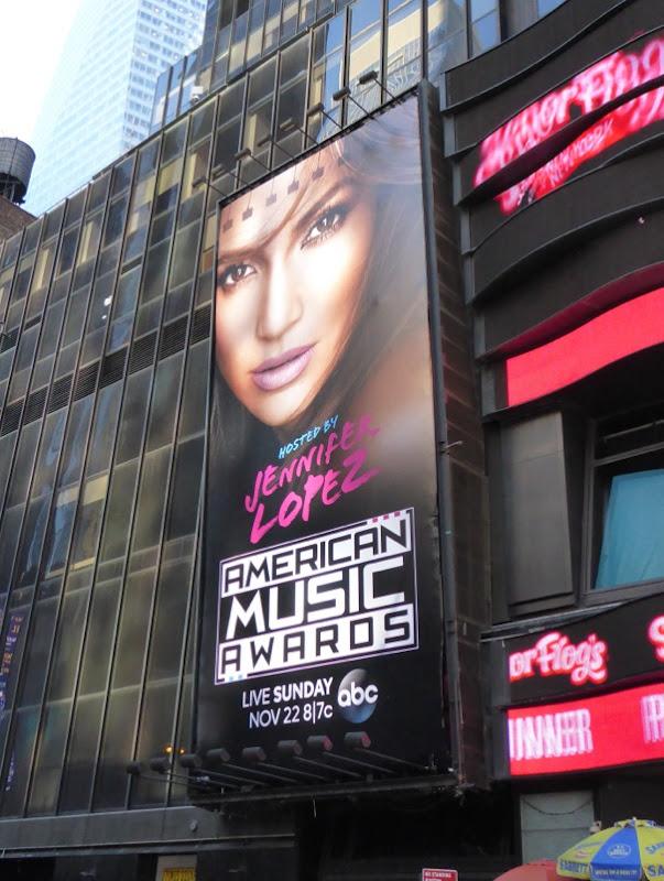 JLO American Music Awards 2015 billboard NYC