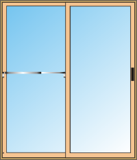 sliding glass door with Lockking Security Bar
