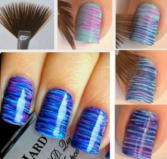 Nail art sfumata | DIY Shade nail art