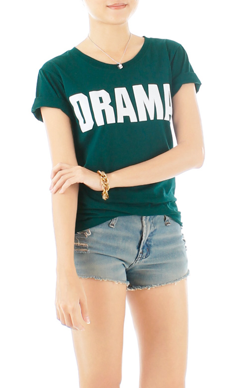 Drama Queen Tee – Dark Green