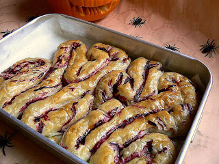Intestines, a Halloween appetizer by Canary Girl